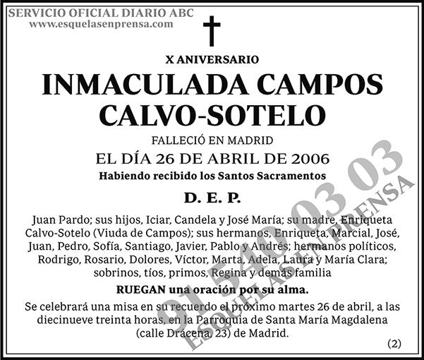 Inmaculada Campos Calvo-Sotelo